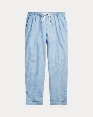Relaxed Fit Chambray Pant