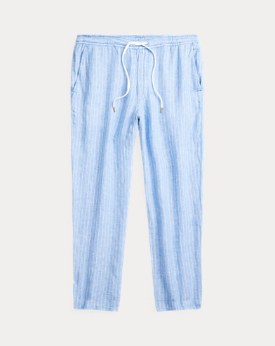 Relaxed Fit Striped Linen Pant