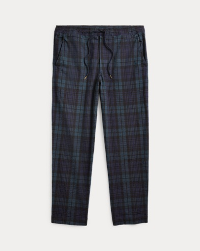 Stretch Relaxed Fit Plaid Pant