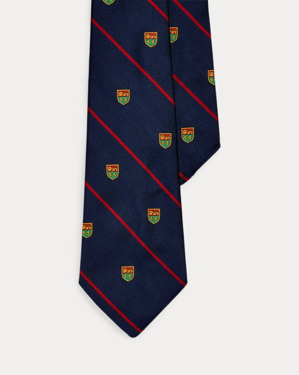 Vintage-Inspired Striped Silk Club Tie