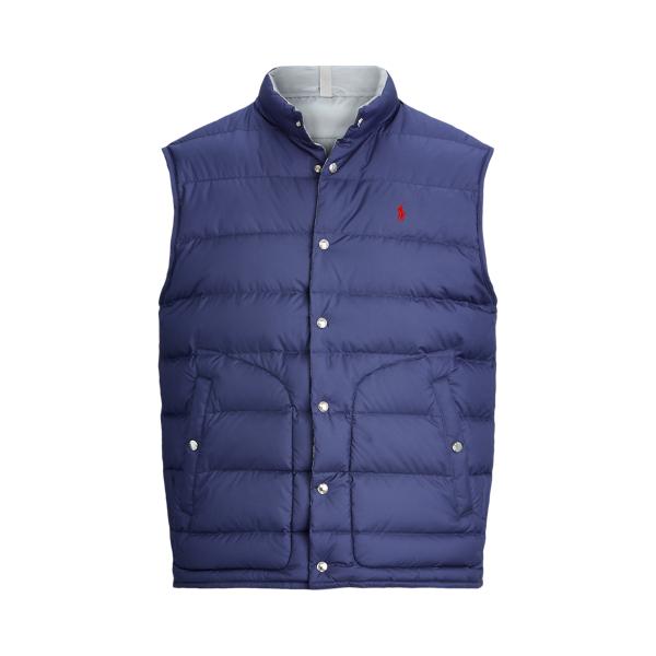 폴로 랄프로렌 Polo Ralph Lauren Reversible Down Vest,Newport Navy/Silver