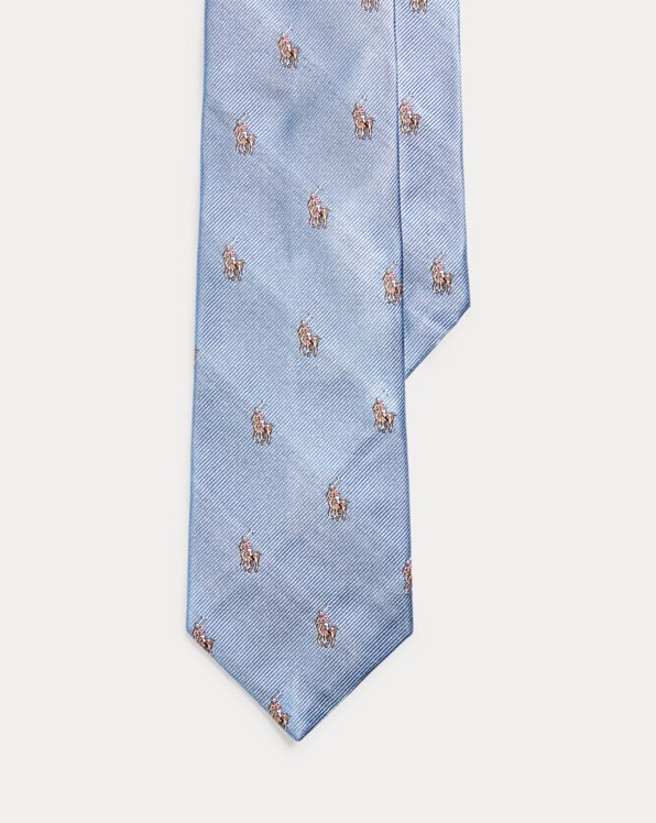 Polo Player Silk Narrow Tie