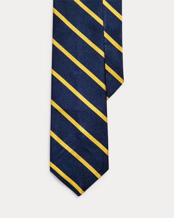 Cravate étroite reps de soie rayé