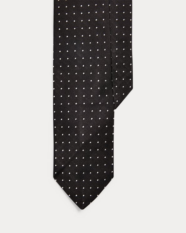 Dot Silk Repp Narrow Tie