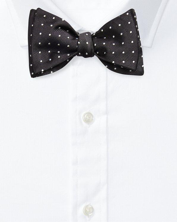 Polka-Dot Silk Repp Bow Tie