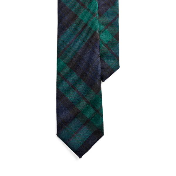 폴로 랄프로렌 타탄 울 내로우 넥타이 Polo Ralph Lauren Tartan Wool Narrow Tie,Navy/Green