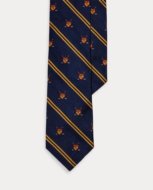 Polo Ralph Lauren Golf Silk Narrow Club Tie 1