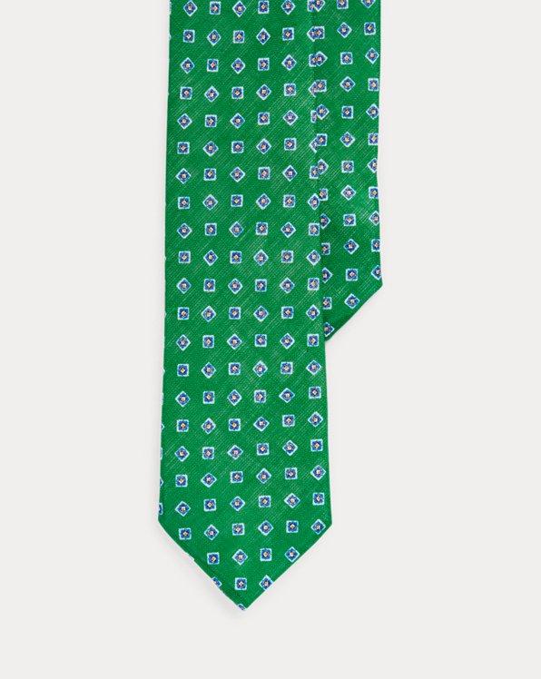 Neat Linen Narrow Tie