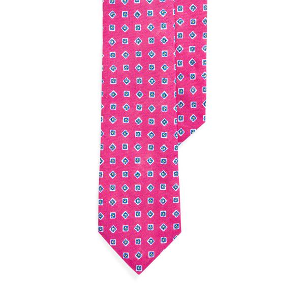 폴로 랄프로렌 넥타이 Polo Ralph Lauren Neat Linen Narrow Tie,Pink