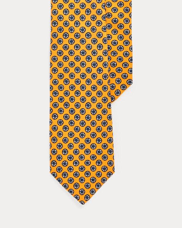 Cravate étroite en soie imprimée