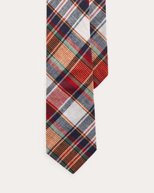 Cravate étroite madras
