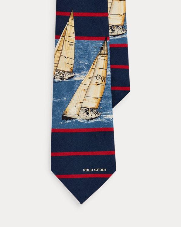 Cravate Polo Sport voilier en soie