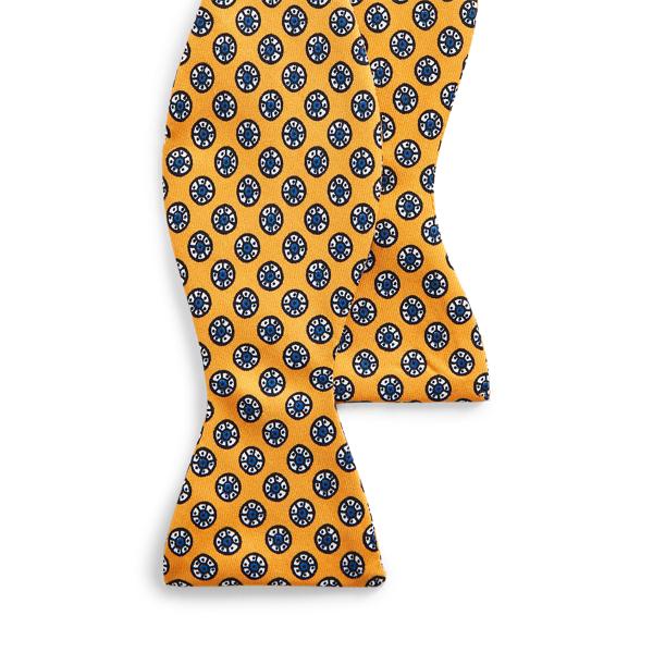 폴로 랄프로렌 실크 보우 타이 Polo Ralph Lauren Block-Print Silk Bow Tie,Yellow