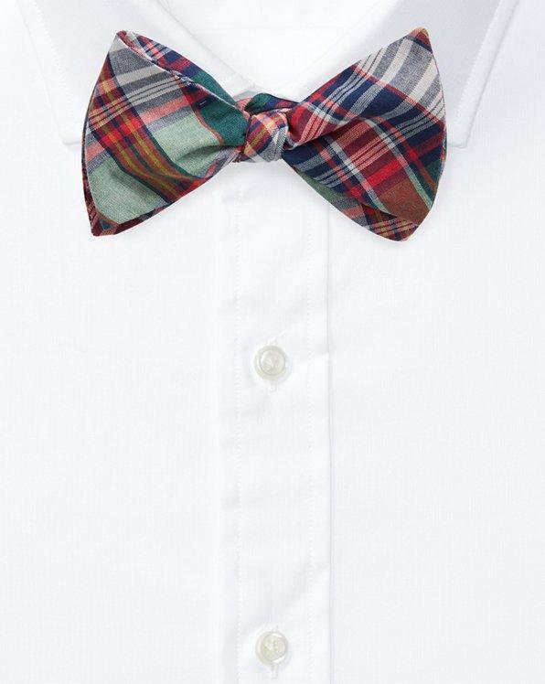 Polo Ralph Lauren Mens Tartan Plaid Wool Bow Tie Black