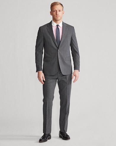 Polo Dot-Stripe Stretch Suit