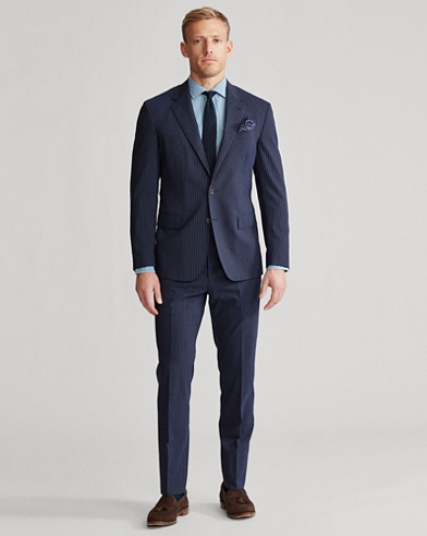 Polo Dot-Stripe Stretch Suit