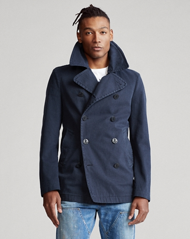 Polo Stretch Cotton Peacoat