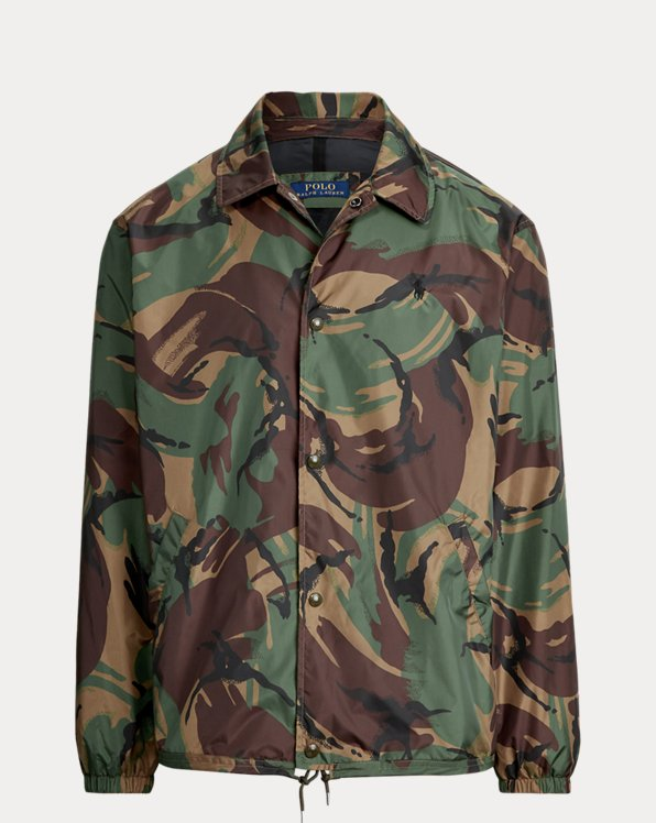 Camo-Print Coach Jacket