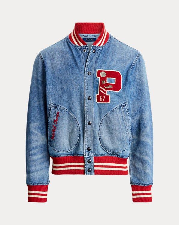 Denim Letterman Jacket