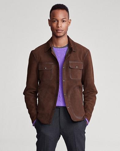 Nubuck Leather Shirt Jacket