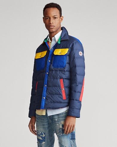 Color-Blocked Down Jacket