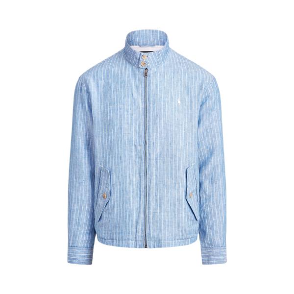 폴로 랄프로렌 Polo Ralph Lauren Striped Linen Jacket,Capri Blue/White Stripe