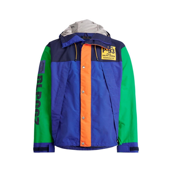 폴로 랄프로렌 Polo Ralph Lauren Graphic Water-Repellent Jacket,Royal Multi