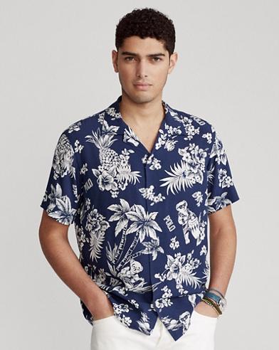 Custom Fit Tropical Bear Shirt