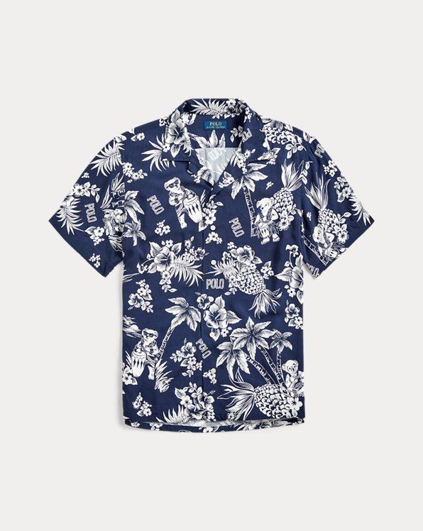 Custom Fit Tropical Bear Shirt