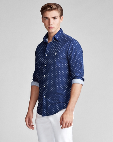 Classic Fit Anchor-Print Shirt