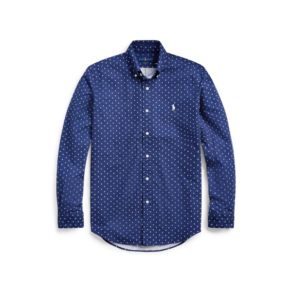 폴로 랄프로렌 Polo Ralph Lauren Classic Fit Anchor-Print Shirt,Micro Anchor
