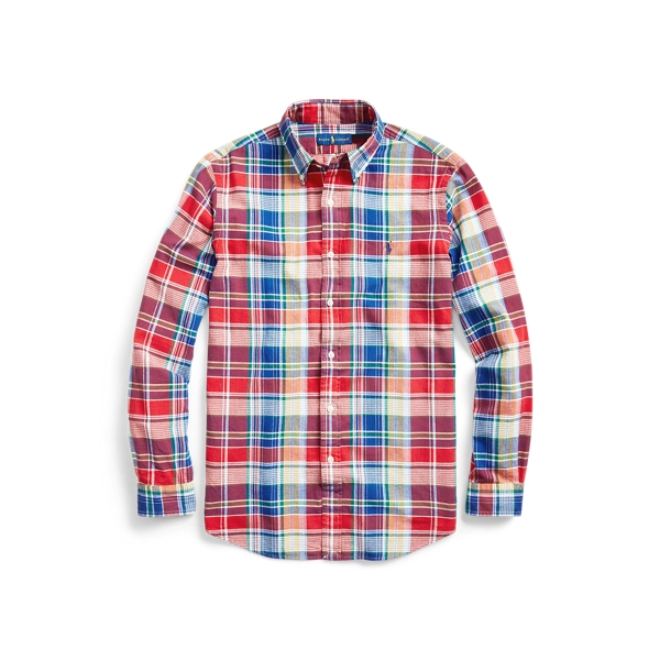 폴로 랄프로렌 Polo Ralph Lauren Classic Fit Madras Shirt,4531 Red/Blue Multi