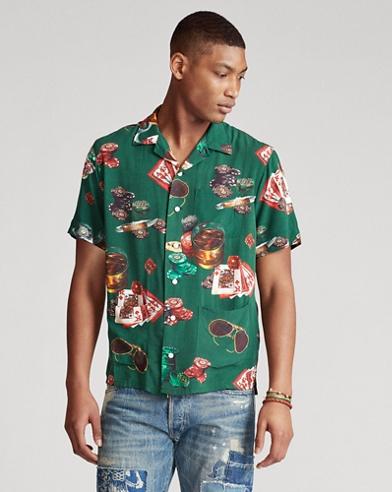 Classic Fit Poker Print Shirt