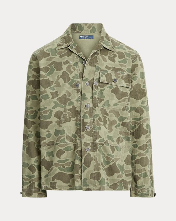 Classic-Fit Camouflage-Hemd