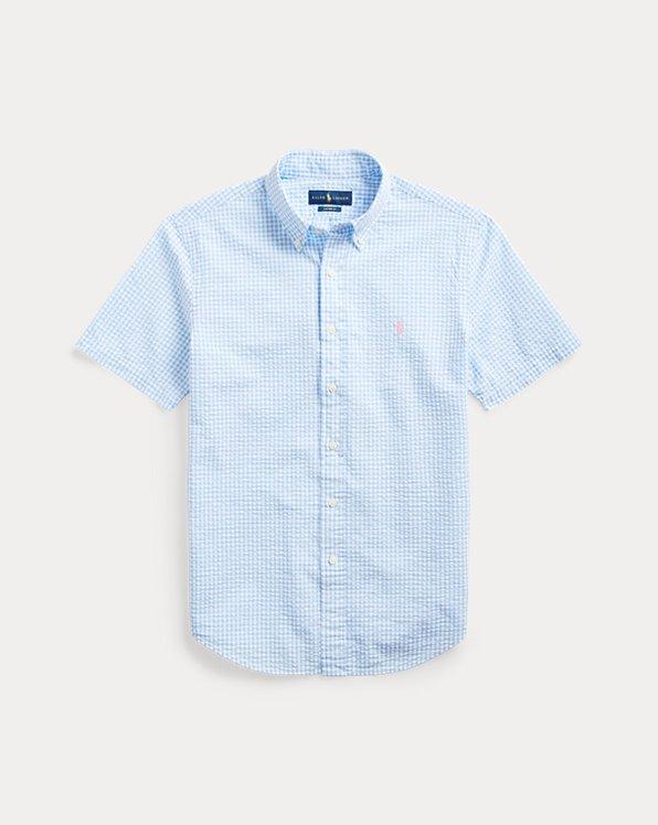 Custom-Fit Seersucker-Hemd