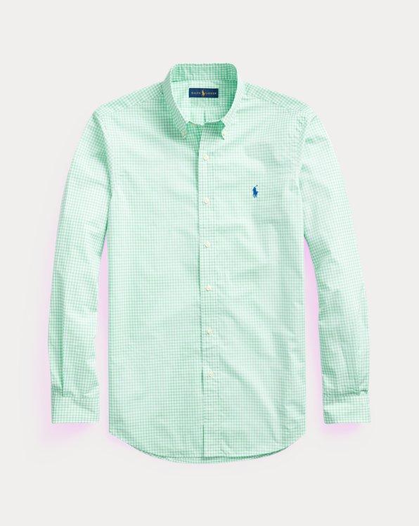 Camicia scozzese popeline Slim-Fit