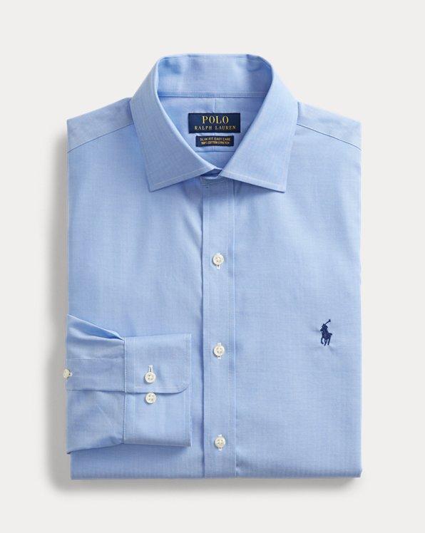 폴로 랄프로렌 Polo Ralph Lauren Slim Fit Easy Care Shirt,Powder Blue/White