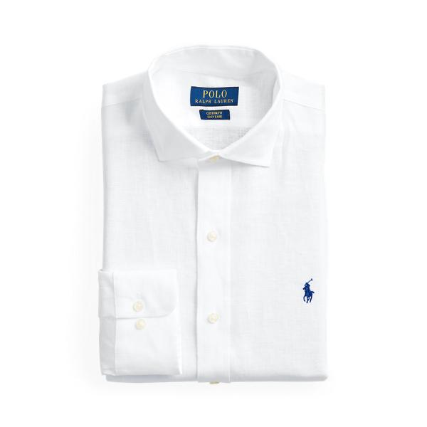 폴로 랄프로렌 린넨 셔츠 Polo Ralph Lauren Custom Fit Linen Shirt,White
