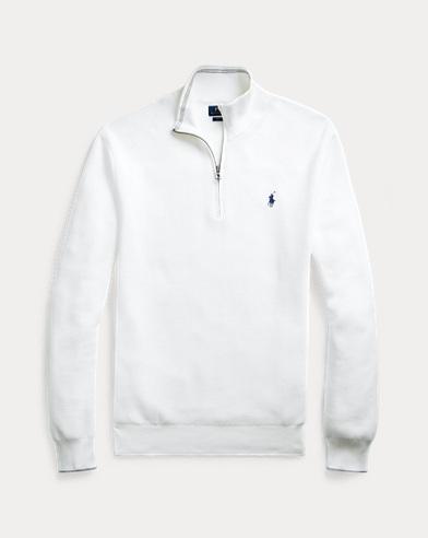 Cotton Half-Zip Jumper