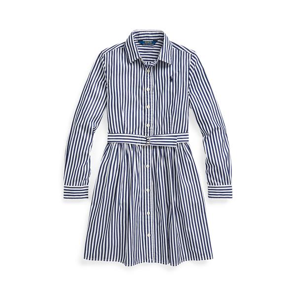 폴로 랄프로렌 Polo Ralph Lauren Striped Cotton Shirtdress,Navy Multi