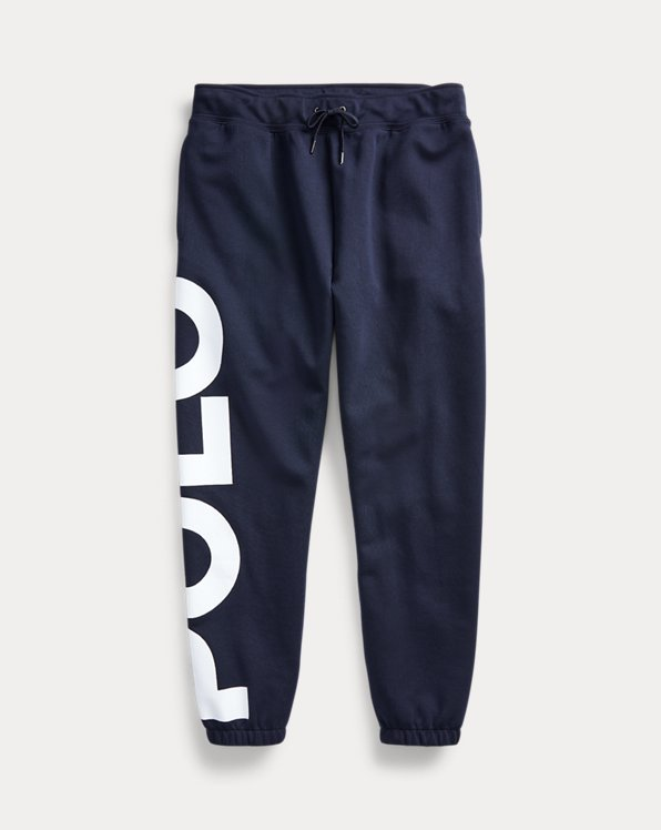 Pantalon de jogging jersey double à logo