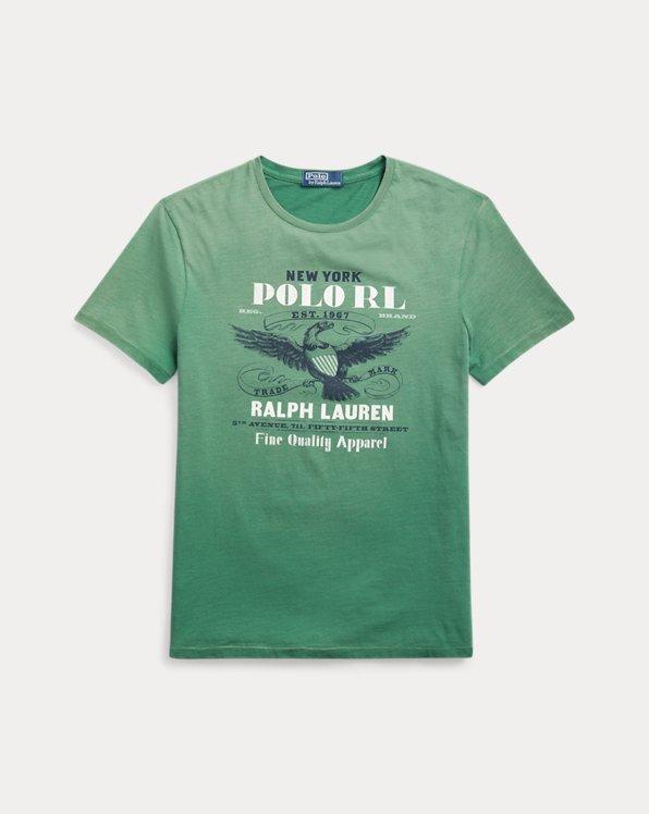 T-shirt jersey de coton graphique