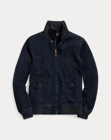 Indigo Jersey Bomber Jacket