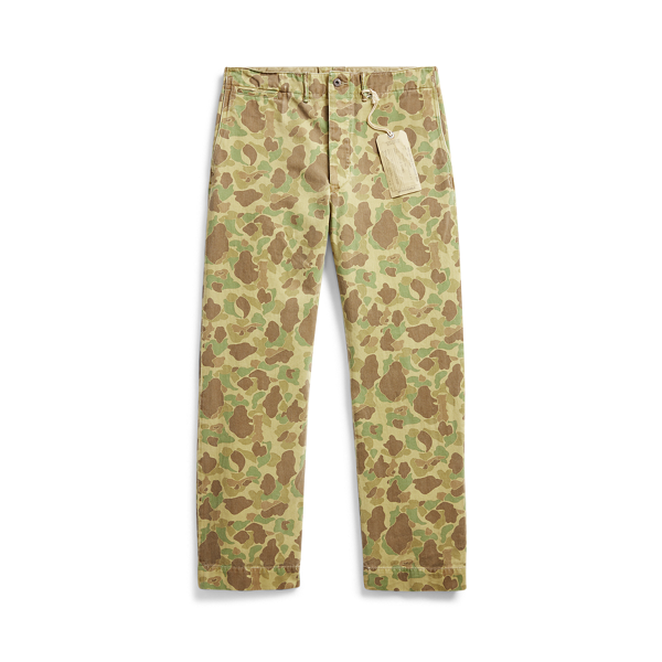 Camo Cotton Chino Trouser