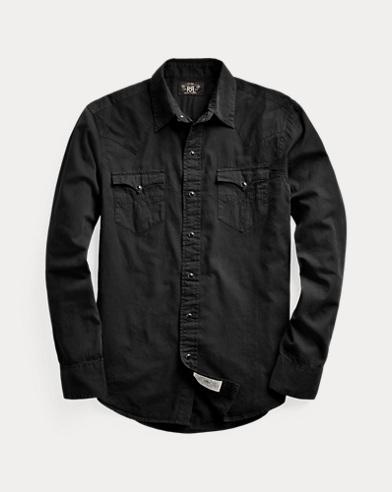Slim Fit Twill Western Shirt
