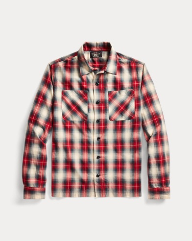 Plaid Twill Camp Shirt