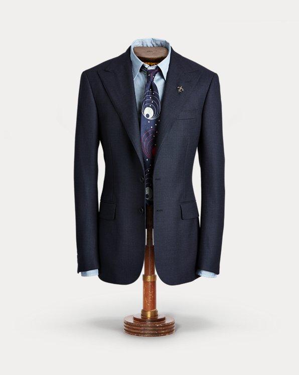 Wool Peak-Lapel Suit Jacket