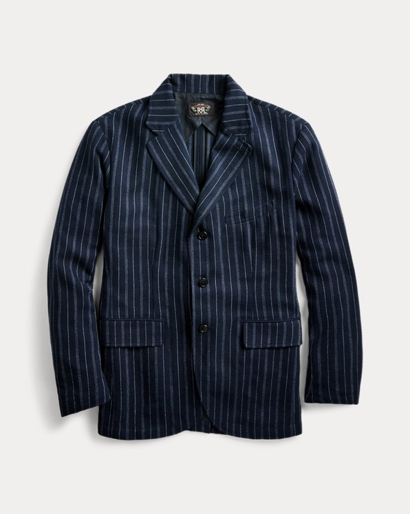 Giacca indaco a righe Slim-Fit