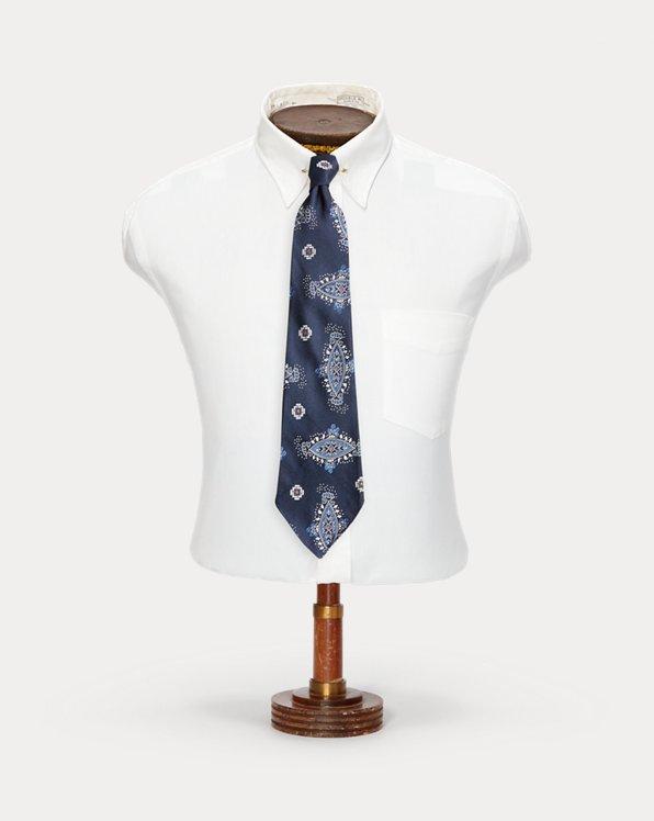 Cravatta in jacquard di seta