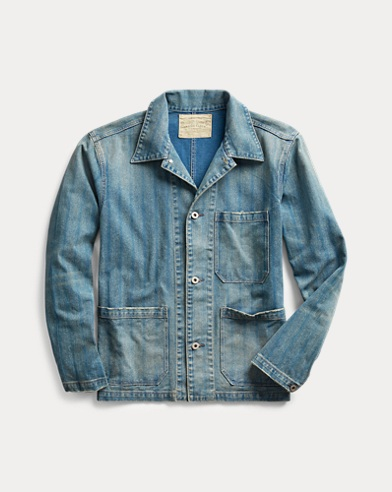 Striped Indigo Twill Jacket